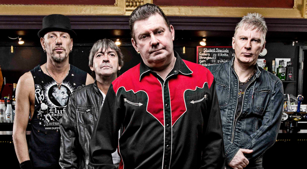 The Stiff Little Fingers are from left: Ali McMordie, Ian McCallum, Jake Burns, and Steve Grantley
