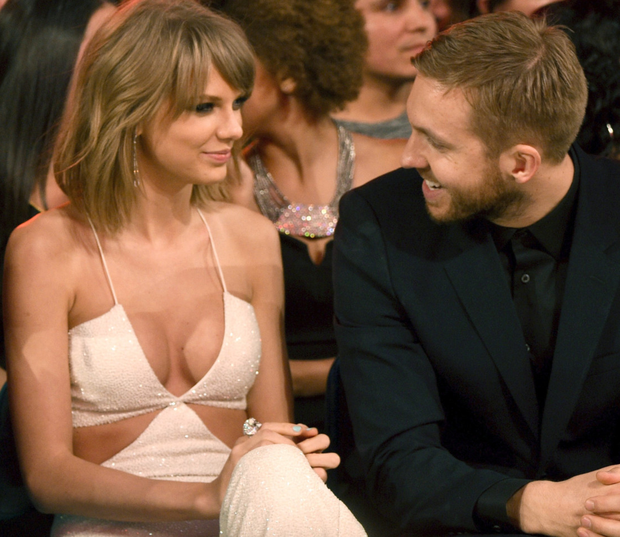 Taylor Swift with ex Calvin Harris