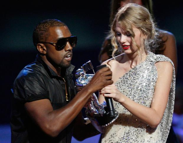 Kanye West interrupts Taylor Swift's speech at the 2009 MTV Video Music Awards in New York