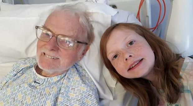 Colin McAlpin with his granddaughter Scarlett