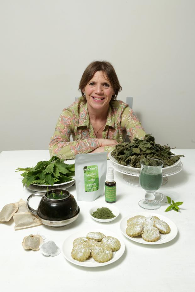 Going green: Noreen Van der Velde with her Nettle-made products