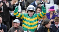 Champion jockey: AP McCoy winning the Gold Cup on Synchronised in 2012