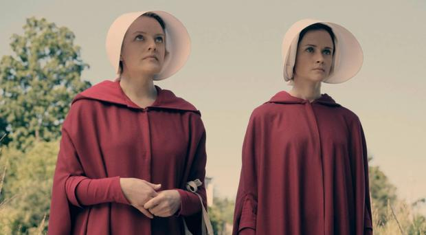 Landmark book: A scene from the TV adaptation of The Handmaid's Tale