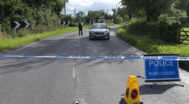 Growing unease: police at the scene of the recent explosion near Wattle Bridge in Co Fermanagh
