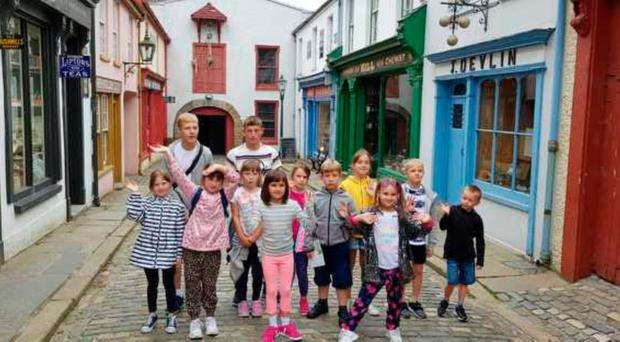 Mairead Rafferty's group at the Ulster American Folk Park