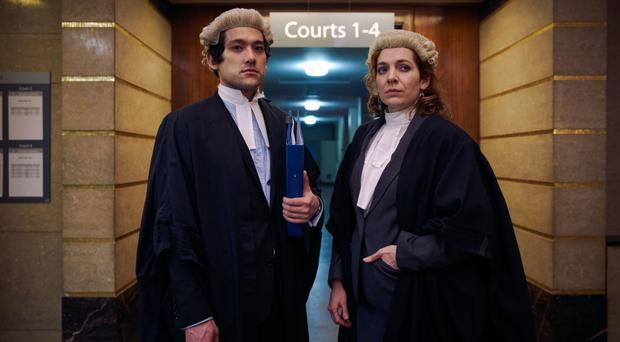 Legal eagles: Will Sharpe as Will and Katherine Parkinson as Caroline in Defending the Guilty