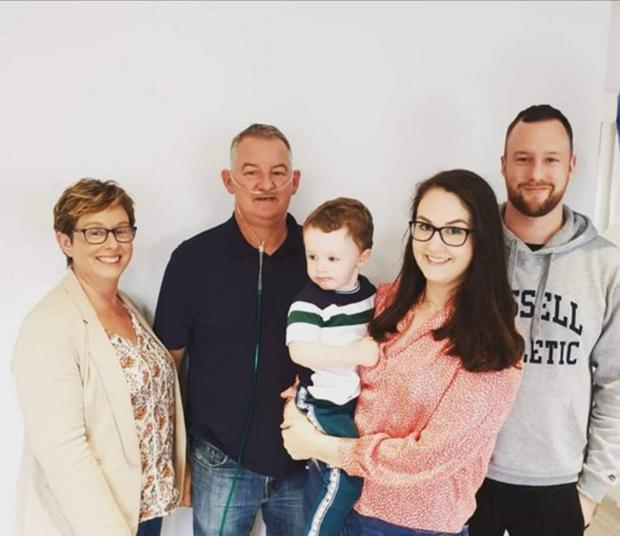 Alister and Paula Magee with their son James, daughter Rebecca and grandson Theo