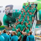 Eastern promise: the Ireland squad depart for Japan