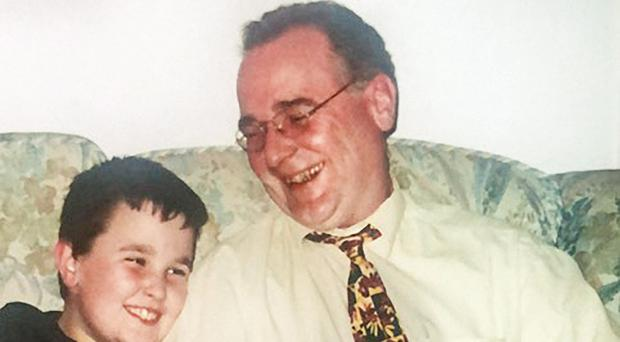 Mental scars: Richard Morgan as a boy with his father
