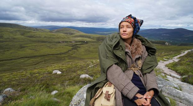 Big adventures: Elise in her 1940s Scottish attire in Cairngorms National Park