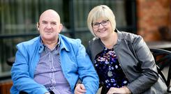 Brave battle: Alastair McAfee and his wife Gillian