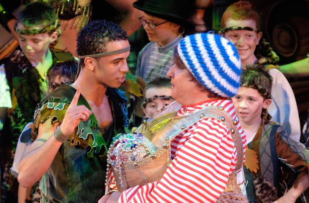 Aston Merrygold and May McFettridge in Peter Pan at the Grand Opera House in 2006