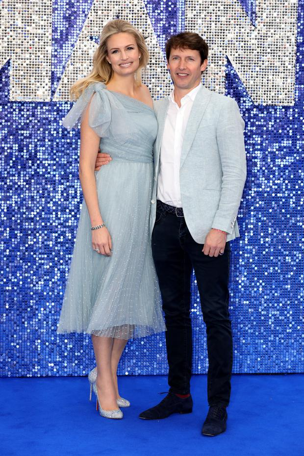 Family bond: James Blunt with wife Sofia Wellesley