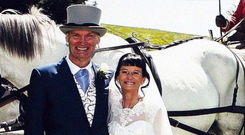 John and Lorriane Caulfield who married earlier this year