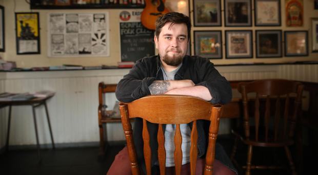Comedian Jordan Robinson who will be performing at Belfast's Sunflower Bar