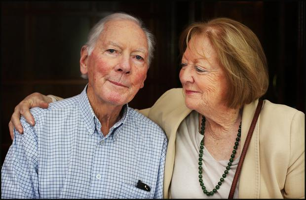 Battling on: Gay with wife Kathleen