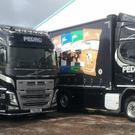 Distinctive transport: Pedro Pet Food Ltd trucks which are often seen on roads in Northern Ireland