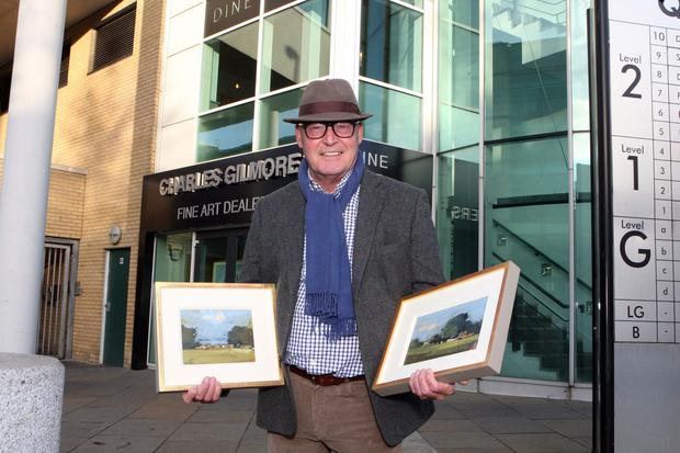 Martin Mooney with a couple of his pieces