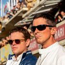 Fast times: Matt Damon as Carroll Shelby, and Christian Bale as Ken Miles