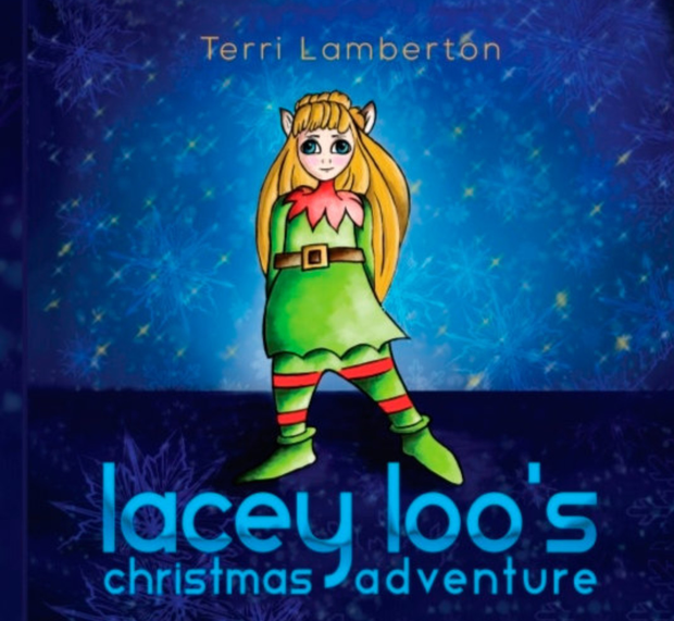 Some of the illustrations from Terri's book Lacey Loo's Christmas Adventure