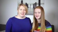 Loving support: Mia Brown with her mum Jo, who both feature in Channel 4 documentary Save My Child
