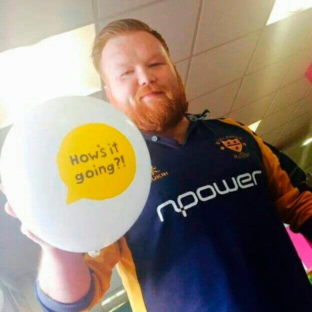 Mick Finnegan working with his charity State of Mind Rugby Union