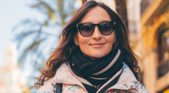 Good idea: wearing sunglasses, even in winter months, can help keep your eyes safe