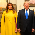 US President Donald Trump and wife Melania at Clarence House