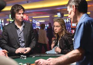 Larson with Mark Wahlberg in The Gambler