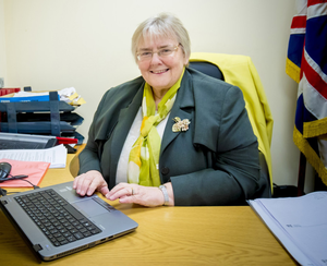 MLA Rosemary Barton at her office in Dungannon