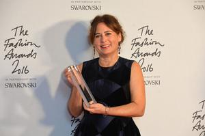 The former Vogue editor with a special recognition award at The Fashion Awards