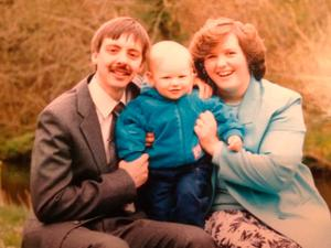 Jonathan with his late dad Colin and mum Carolyn