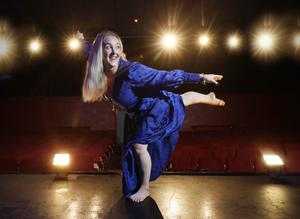 On stage: choreographer and dancer Eileen McClory