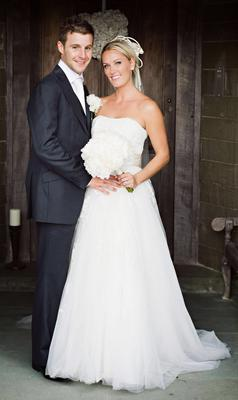 The couple on their wedding day (19 October 2012)