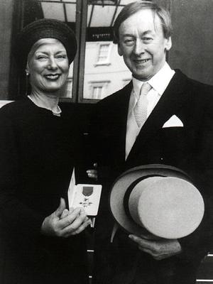 Walter with his wife Mary when he received his OBE