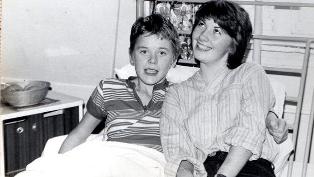 A young John Chambers in hospital