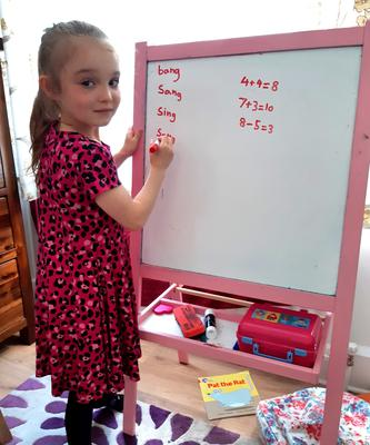 Learning curve: Soley at home school