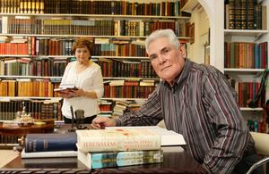 Evangelist Pastor James McConnell and his wife Margaret in the study