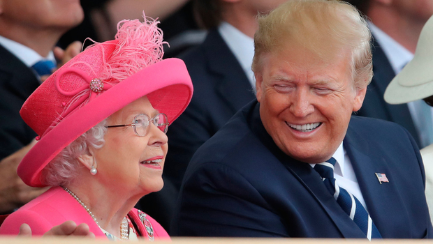 Best behaviour: US president Donald Trump shares a joke with the Queen during his visit to the UK during which he attended the D-Day commemorations