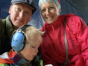 Brewing ideas: Oscar Woolley with wife Samantha and son Roman