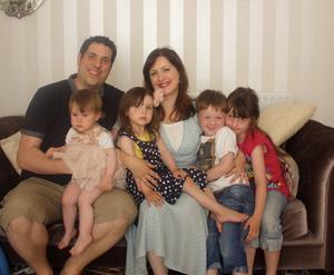 Family first: Carolyn and husband Jared with (from left) Phoenix, Melody, Summer and Willow