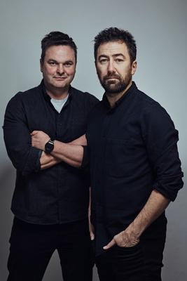 Declan Lawn with screenwriting partner Adam Patterson