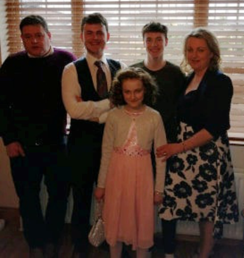 All together: Marian and Gary Magill with their children Ryan, Jamie and Abby