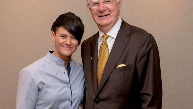 Kim Calvert with motivational coach Bob Proctor