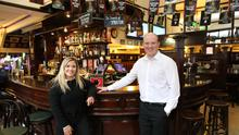 Busy life: brother and sister James and Peita McAlister, who work at the family business, the Morning Star bar and restaurant
