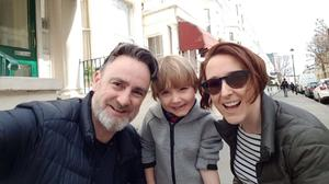 The couple with their son Daniel