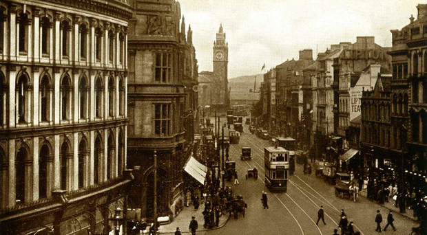 A different world: High Street in Belfast city centre 100 years ago