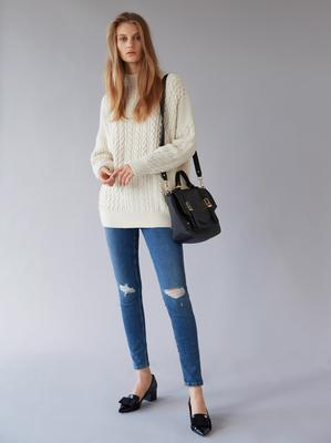 Jumper, £45 and jeans, £42, both from Topshop