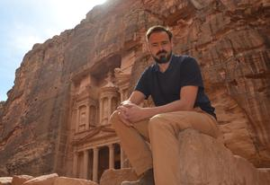 Frantic filming visit: Jamie Theakston in Petra