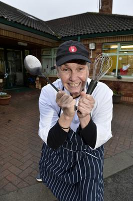 Changed days: actress Allison Harding working as a chef in a care home in Belfast